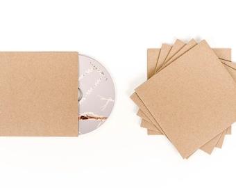 100 Cd Sleeves| Wedding Cd| Wedding Favor| Cd Case| Cd Sleeves| Cd| Kraft Cd Sleeves| Kraft Paper| Kraft Cd Sleeve| Cd Cover| Kraft Sleeve