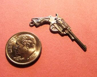 Twenty Pewter Pistol Gun Charms