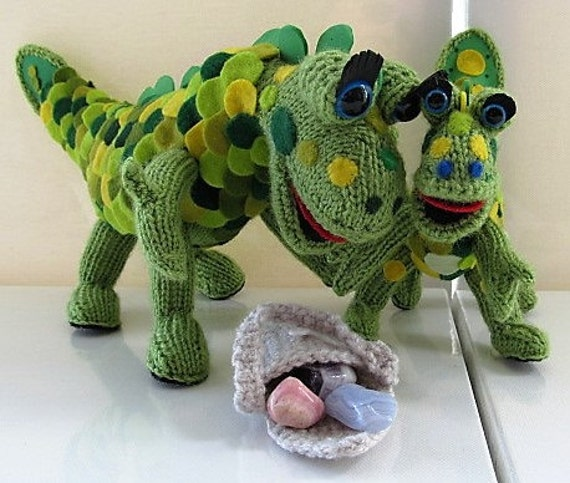 Hand Knitted Baby Soup Dragon