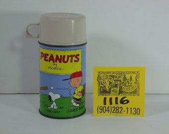 1970's Peanuts/Have Lunch with Snoopy Thermos w/cup and stopper