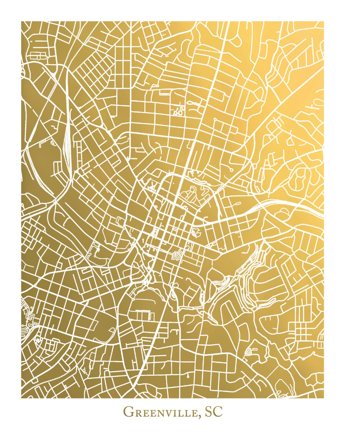Crib for sale charleston sc - Greenville Sc Gold Foil Map Print Greenville South Carolina Map Greenville Sc Print Gold Foil Print Greenville Art Map Wall Art