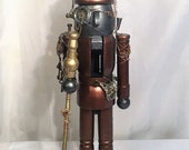 CUSTOM ORDER - Large Steampunk Robot Nutcracker