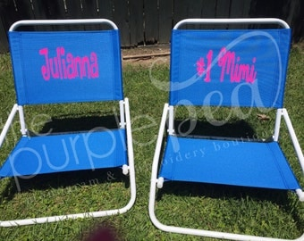 Monogrammed Beach Chair