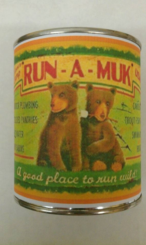 RUN A MUK - Adorable Cedarwood Wood Wick Candle -  Free Shipping in United States 16 oz