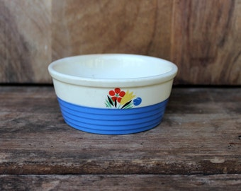 Vintage Universal Potteries Inc. Circus Pattern Small Bowl or Crock