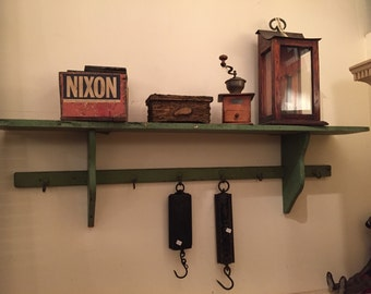 Primitive Old Paint Wood Shelf