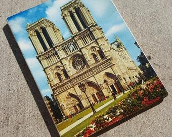 Vintage Snapshots of Notre Dame Cathedral, Paris, France