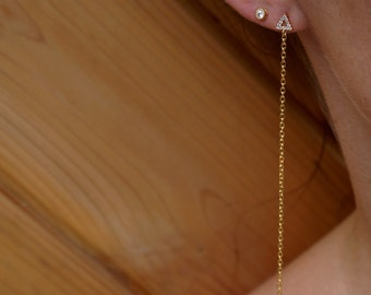 Diamond Triangle Sweeper Earrings