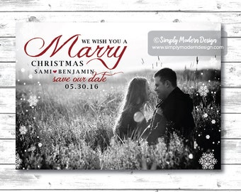 Items similar to We wish you a MARRIED Christmas Save the Date ...