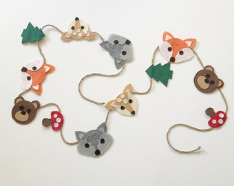 Woodland Forest Large Felt Garland