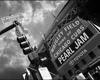 Pearl Jam Wrigley Field Marquee 2016 Photograph