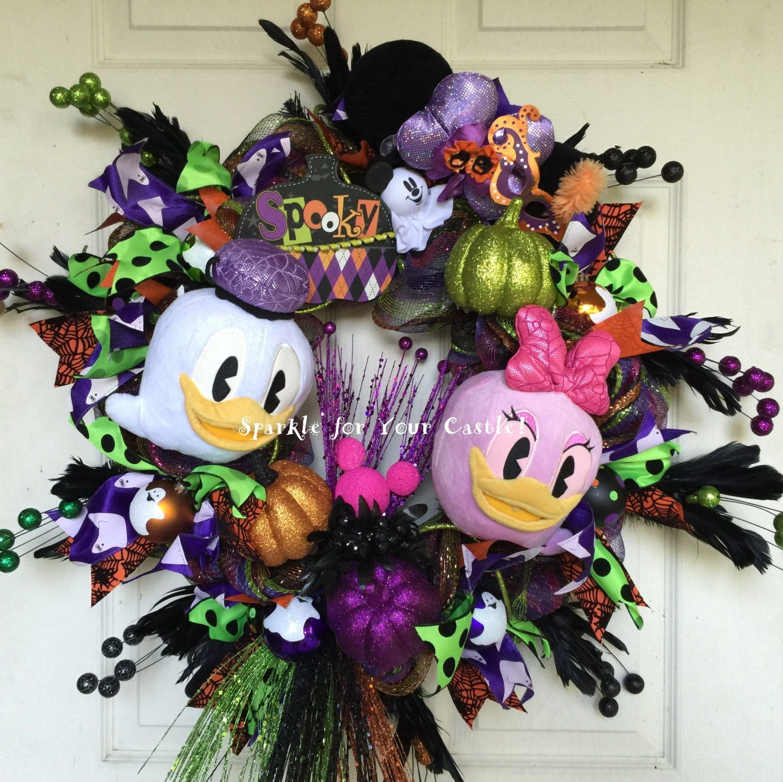 Donald Daisy Duck Halloween Wreath Tokyo Disney Halloween