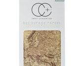 Craft Consortium Decoupage Papers -  World Map 2