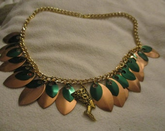 Egyptian Queen Nefertiti Scale Necklace