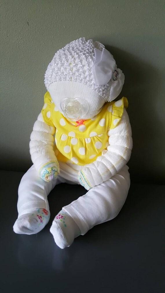 baby shower diaper cake baby girl