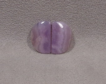 HOLLEY BLUE AGATE Cabochons Set of 2 Matched Pair