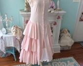 Vintage Dress Fairytale Enchanting Pink Petite Fleur Mori Girl sale reserve for Connie~
