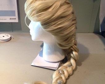 Frozen Elsa costume cosplay wig