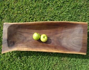Large black walnut wood bowl - Large wood dough bowl - Table centerpiece - Countertop wood bowl, Food safe wood bowl, Wood bowl, Wooden bowl