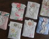 "Lot of 7 Mini Lavender Sachets Miniature Lavender Sachets from Vintage - ""Floral"" Theme - Atlantic Rock Threads"