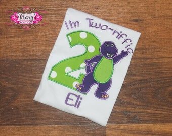 Barney Birthday Shirt Personalized