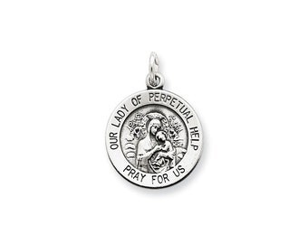 Sterling Silver Our Lady of Perpetual Help Medal