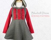 Girls dress pattern pdf, childrens sewing pattern, baby sewing pattern, beginner, sewing pattern for kids, girls clothing pattern, BLUEBELL