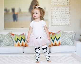 Dancing Queen White Baby Leg Warmers