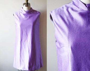 1960s purple mini dress // mod dress // vintage dress