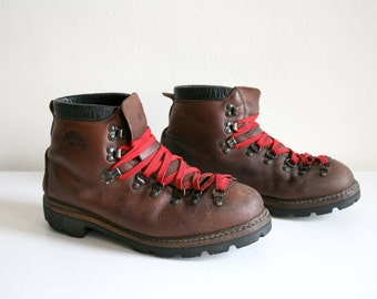 Items Similar To Size 9 Vintage Leather Hiking Boots On Etsy