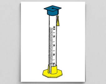 Graduation Gift, Science Graduation Gift, Medical School Graduation, Graduated Cylinder, Chemistry Major
