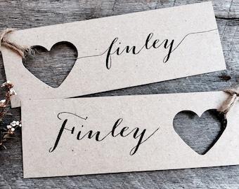 Jumbo Wedding place cards, Wedding Place Cards, Wedding Name Tags, Name Tags, Heart Name Tags, Heart Tags, Jumbo Tags, Calligraphy Tags, Tag