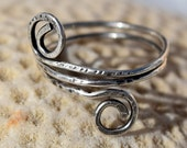 Wire Wrap Ring, Patina Sterling Silver Ring, 18 ga. Cusomtize, Wire Ring, Jewelry