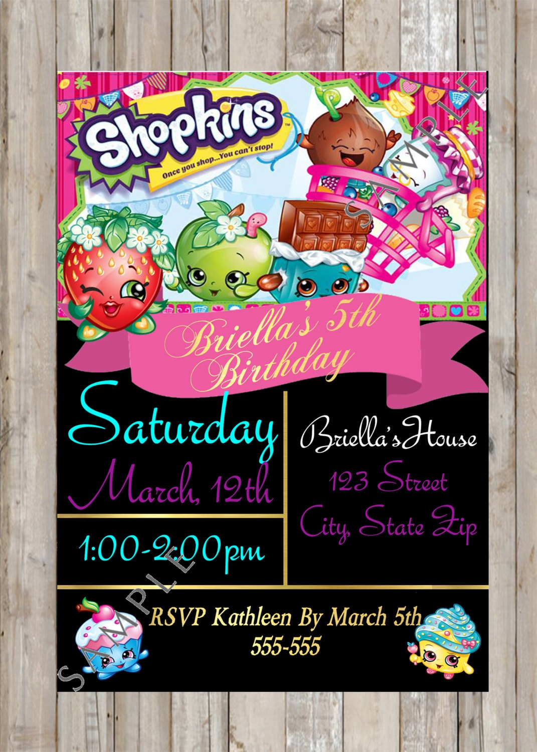 It's just a graphic of Playful Shopkins Printable Invitations