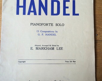 Second Year Handel Pianoforte Solo, E. Markham Lee, Sheet music