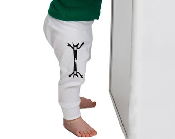 Halloween baby leggings, unisex children trousers, monster kids, hipster kids pants, all sizes