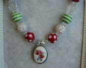 "The "" Strawberry Shortcake "" Inspired  Necklace ""   - Toddler, Girls, Birthday, Photo Prop"