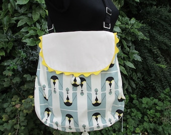 Penguin print Messenger bag