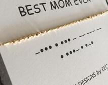 MOTHER'S DAY, Best Mom Ever, Morse Code Necklace, I Love You Mom, Mother Daughter, Best Teacher Ever, Step Mother, Secret Message Necklace