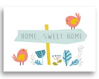 Instant Download PDF file Nursery Decor, Nursery Art Print, Nursery Wall Art, Playroom Decor,  Sweet home Print