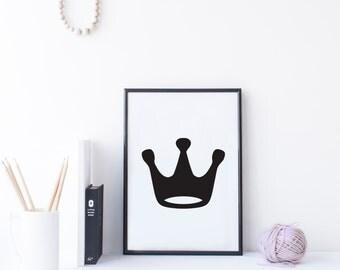 Poster Print 'Crown' A4 Digital File