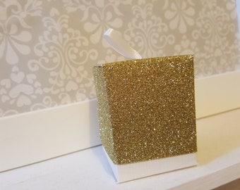 Gold Glitter Favour Boxes