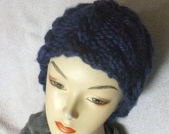 WINTER HAT/Ladies Handknit Hat/Knitted Hat
