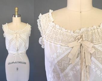 Corialetta blouse | 1900s Edwardian lace camisole | antique La Belle Epoque corset cover