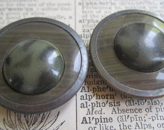 Pair of Vintage Celluloid Tight Top Buttons