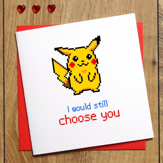 pokemon go card i choose you card pokemon birthday card, Birthday card