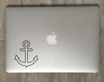 Hollow Anchor - Vinyl Decal - Laptop Decal - Macbook Decal - Laptop Sticker - Macbook Sticker - Vinyl Sticker - Car Decal