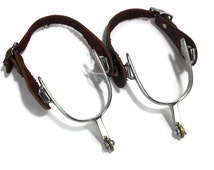 Western Boot Spurs * Repurposed Drapery Tie Backs * Curtain Hook