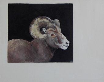 Mountain goat Original painting