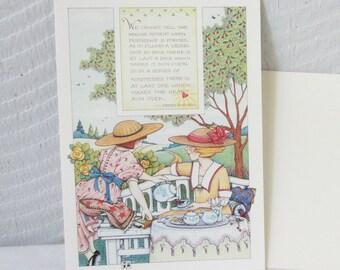 Vintage Mary Engelbreit Greeting Cards.  Friendship Card. NOS Designer card.